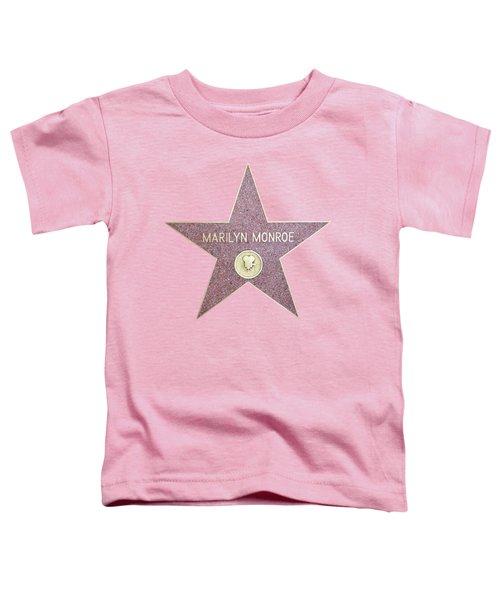 Marilyn Monroe Star From Walk Of Fame Toddler T-Shirt