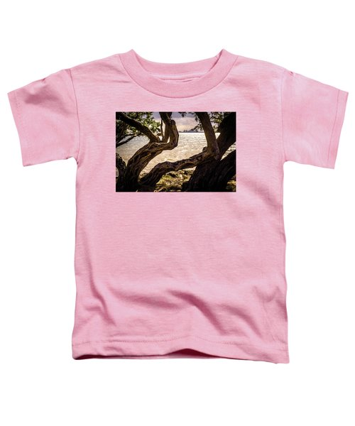 Miami At A Distance Toddler T-Shirt by Camille Lopez