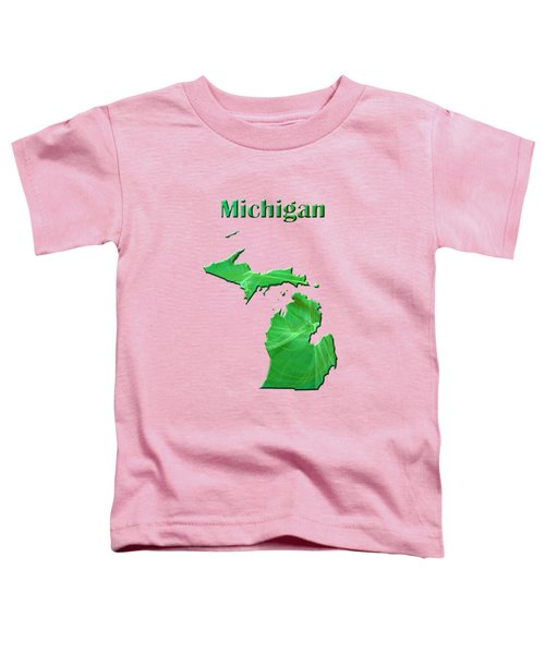 Michigan Map Toddler T-Shirt by Roger Wedegis