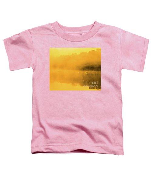 Misty Gold Toddler T-Shirt by Tatsuya Atarashi