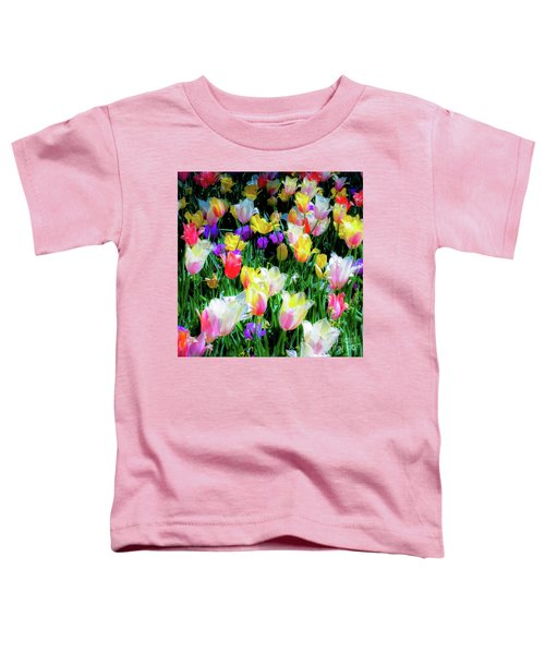 Mixed Tulips In Bloom  Toddler T-Shirt
