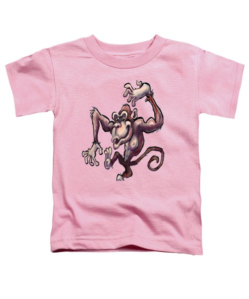 Monkey Toddler T-Shirt by Kevin Middleton