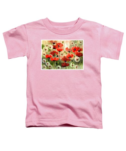 Moody Poppies In The Afternoon Toddler T-Shirt