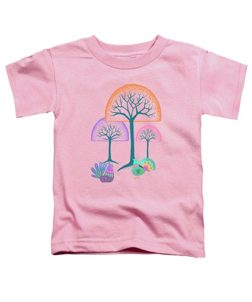 Moon Bird Forest Toddler T-Shirt by Little Bunny Sunshine
