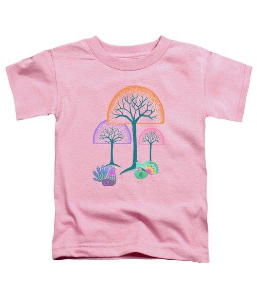 Moon Bird Forest Toddler T-Shirt