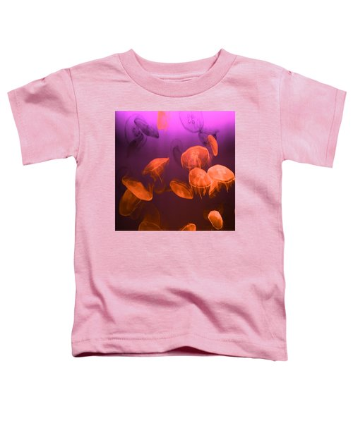 Moon Jellyfish - Red And Purple Toddler T-Shirt