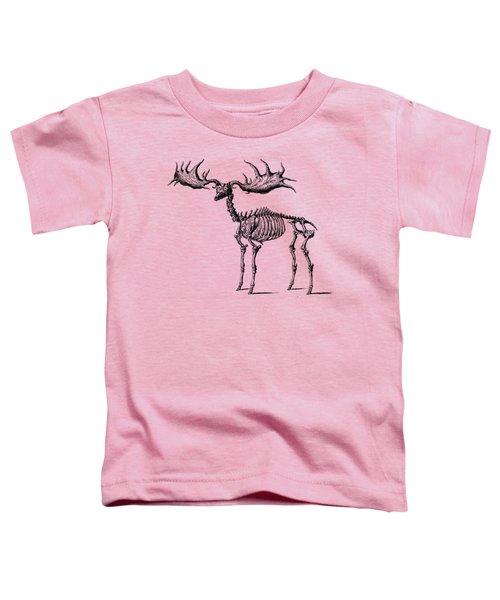 Moose Skeleton T Shirt Design Toddler T-Shirt