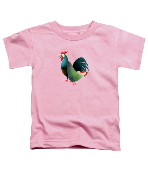 Morning Glory Rooster And Hen Wake Up Call Toddler T-Shirt