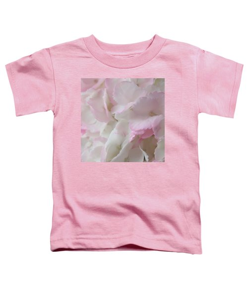 Morning Hydrangeas Macro Square Toddler T-Shirt