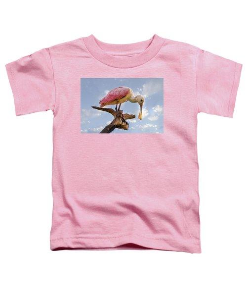 Morning Pinks In Blue Toddler T-Shirt