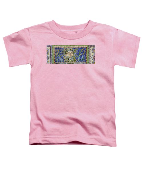 Mosaic Fountain Face View 2 Toddler T-Shirt