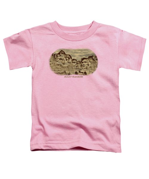 Mount Rushmore Woodburning 2 Toddler T-Shirt by John M Bailey