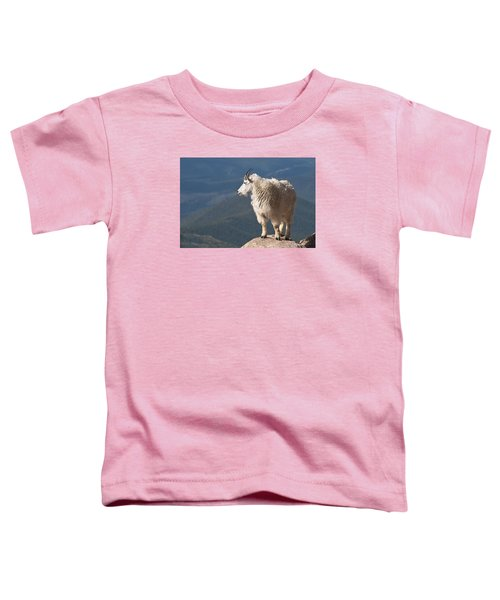 Toddler T-Shirt featuring the photograph Mountain Goat by Gary Lengyel