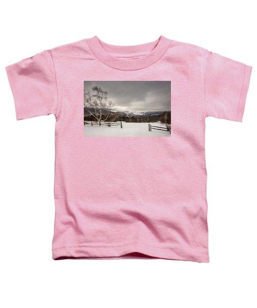 Mountains In Winter Toddler T-Shirt