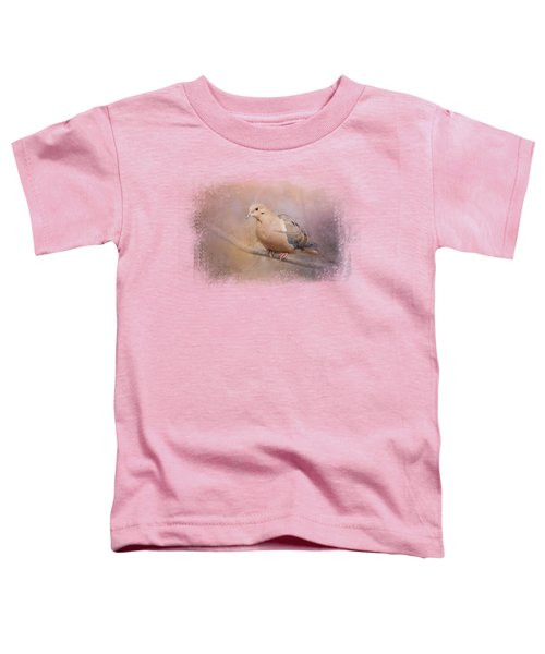 Mourning Dove On A Winter Evening Toddler T-Shirt