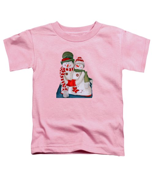 Mr. And Mrs. Snowman Toddler T-Shirt