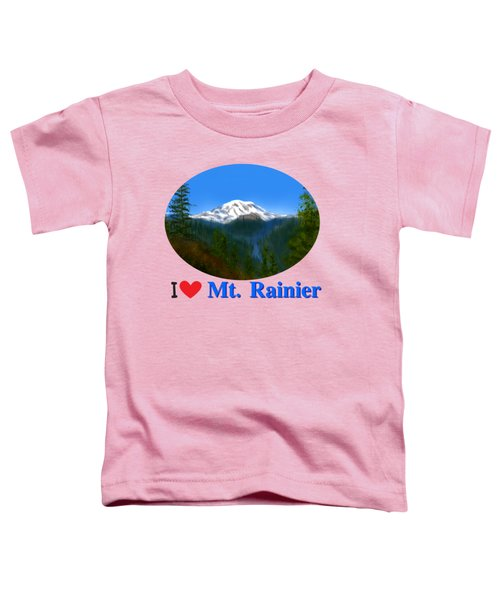Mt Rainier Toddler T-Shirt