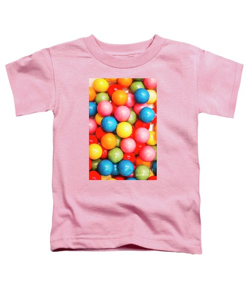 Multi Colored Gumballs. Sweets Background Toddler T-Shirt