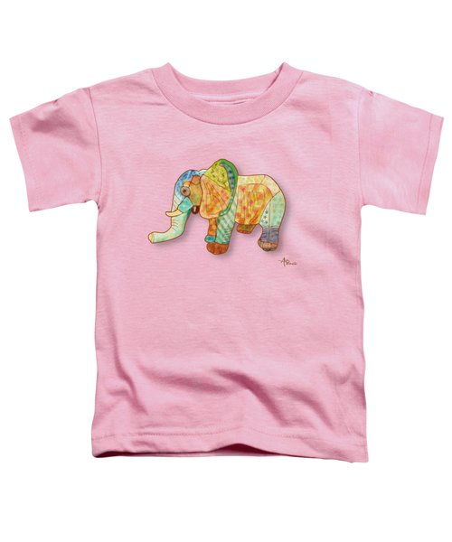 Multicolor Elephant Toddler T-Shirt by Angeles M Pomata