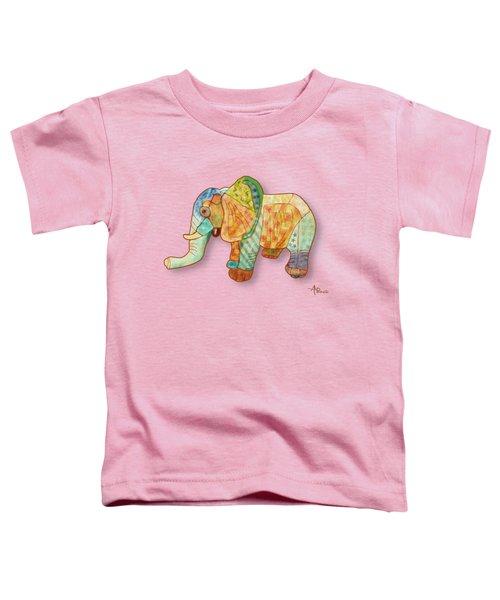 Multicolor Elephant Toddler T-Shirt