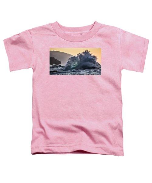 Napali Coast Kauai Wave Explosion Hawaii Toddler T-Shirt