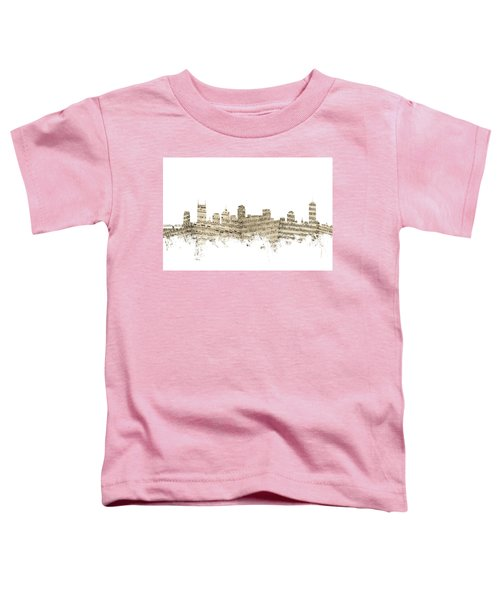 Nashville Tennessee Skyline Sheet Music Toddler T-Shirt