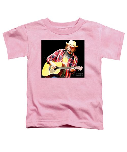 Neil Young Toddler T-Shirt by John Malone