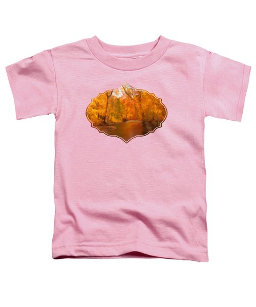 New England Autumn In The Woods Toddler T-Shirt