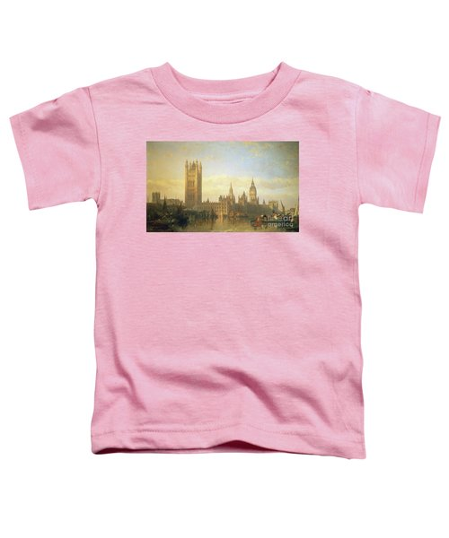 New Palace Of Westminster From The River Thames Toddler T-Shirt