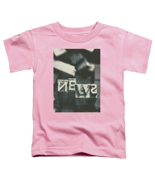 Newspaper Printing Press Art Toddler T-Shirt