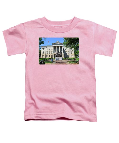 North Carolina State Capitol Building With Statue Toddler T-Shirt