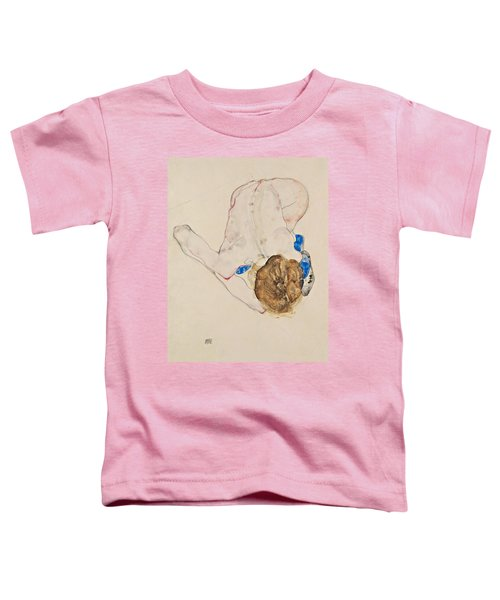 Nude With Blue Stockings, Bending Forward Toddler T-Shirt