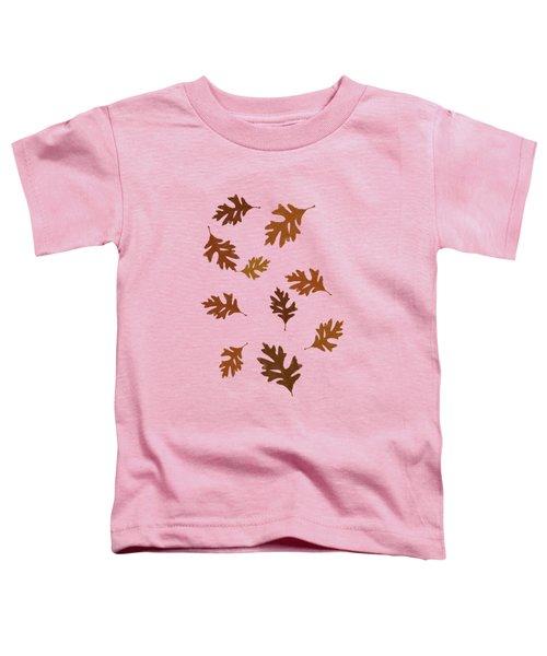 Oak Leaves Art Toddler T-Shirt by Christina Rollo