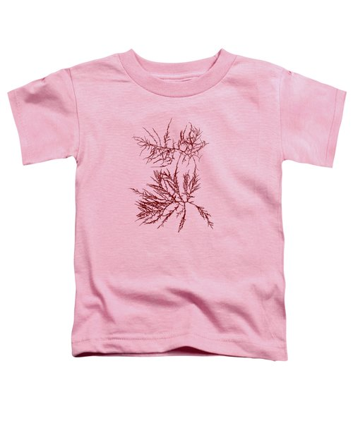 Toddler T-Shirt featuring the mixed media Ocean Seaweed Plant Art Laurencia Tenuissima by Christina Rollo