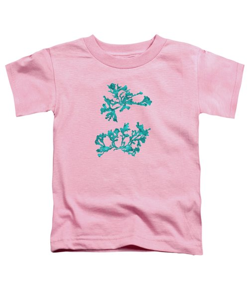 Toddler T-Shirt featuring the mixed media Ocean Seaweed Plant Art Phyllophora Rubens by Christina Rollo