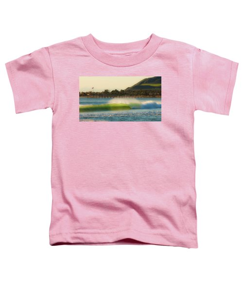 Offshore Wind Wave And Ventura, Ca Pier Toddler T-Shirt