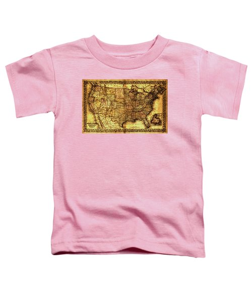 Old Map United States Toddler T-Shirt