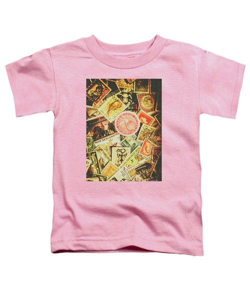Old New Zealand Stamps Toddler T-Shirt