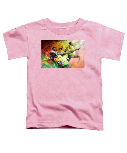 Olympics 100 M Gold Medal Usain Bolt Toddler T-Shirt