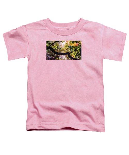 On Oscar - Claude Monet's Garden Pond  Toddler T-Shirt