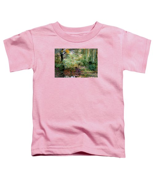 Reflection On, Oscar - Claude Monet's Garden Pond Toddler T-Shirt