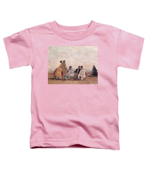 On The Beach At Trouville Toddler T-Shirt