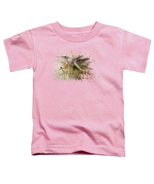 On The Fly Hummingbird Art Toddler T-Shirt