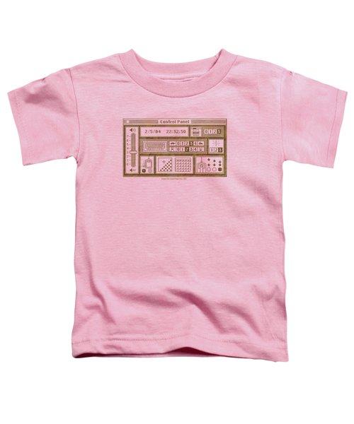 Original Mac Computer Control Panel Circa 1984 Toddler T-Shirt by Design Turnpike