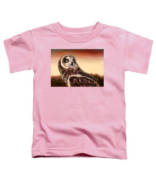 Owl At Sunset Toddler T-Shirt