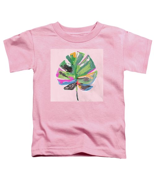 Painted Palm Leaf 2- Art By Linda Woods Toddler T-Shirt