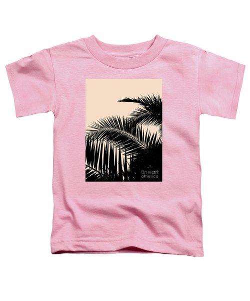 Palms On Pale Pink Toddler T-Shirt