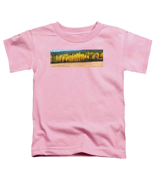 Panorama Of Aspen Grove Fall Foliage Peak To Peak Highway - Rocky Mountains Colorado State Toddler T-Shirt