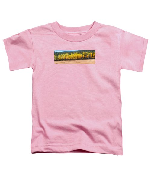 Panorama Of Aspen Grove Fall Foliage Peak To Peak Highway - Rocky Mountains Colorado State Toddler T-Shirt