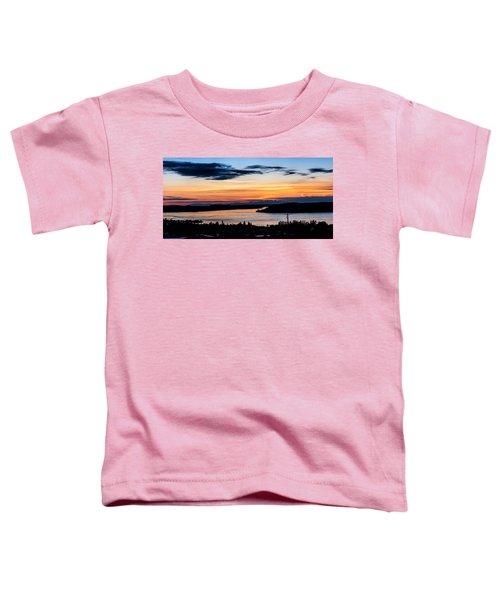 Panoramic Sunset Over Hail Passage  Toddler T-Shirt